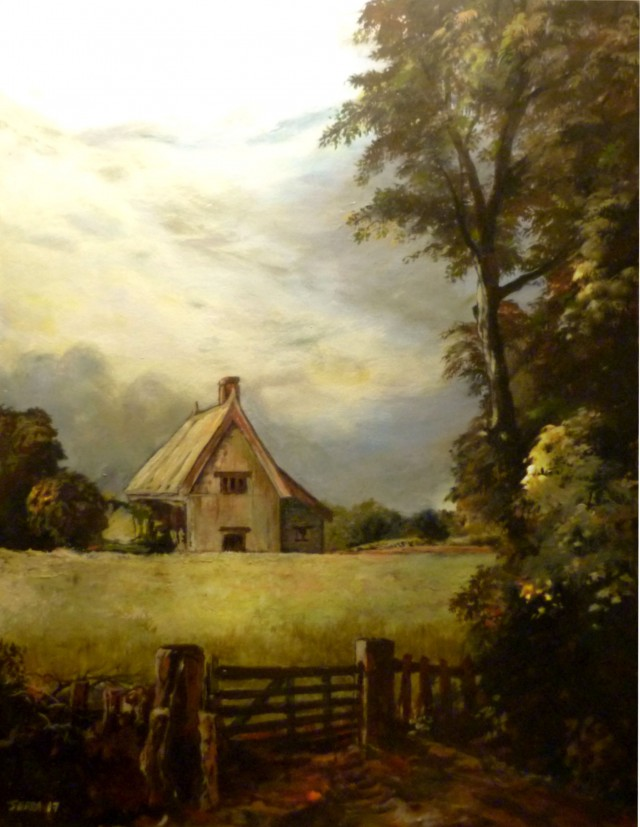 A cottage in a cornfield (1817)